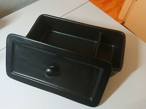 Hearth & Hand Magnolia Black Stoneware Storage Container With Lid