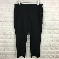 Chicos Womens Knit Pants Size 2 Black Seam Front Elastic Waist Stretch High Rise