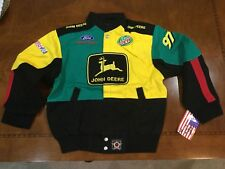 NASCAR John Deere Racing JACKET USA made new/tag youth xl vintage Ford