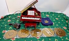 Mr Christmas Gold Label Piano Symphonique Grand Piano Disc Player Music Box