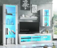 Cabinet Wall Unit Living Room TV Set Cupboard Led Display Furniture Stand LED