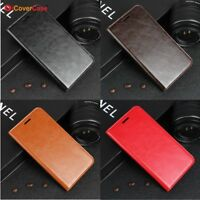 Luxury Genuine Leather Wallet Flip Case Stand Cover For Xiaomi Mi Redmi Models