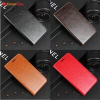 Luxury Genuine Leather Wallet Flip Case Cover For Huawei Honor Models