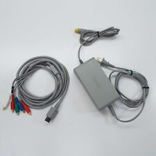 OFFICIAL NINTENDO WII U POWER SUPPLY WUP-002 AC ADAPTER + COMPONENT CABLE (T52)