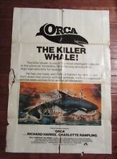 1976 Original Orca Killer Whale 1-Sh Movie Poster 27x41 Gd- Richard Harris