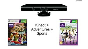 Kinect Sensor Xbox360 + Adventures + Sports GAME Bundle Without Power Supply