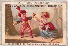3 Calendar Cards c1877 Theater  PUB  Au Bon Marché Orléans Hosiery Confection