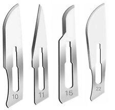 60 Pcs Sterile Surgical Scalpel Handle Carbon Steel Blades 10 11 15 22