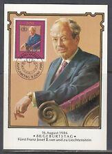 Liechtenstein Scott 848 Maxim Card - Princ Franz Joseph II, 80th Birthday