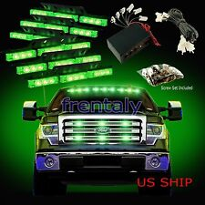 54 LED Car Truck Strobe Emergency Warning Light for Deck Dash Grill Green Green