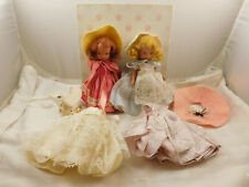 Lot of 2 Vintage Bisque Nancy Ann Storybook Dolls Box Extra Clothes