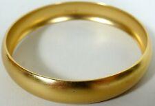 Vtg Monet Bangle Bracelet Brushed Gold Tone Metal 1980s No Damage 2.5 inch diam