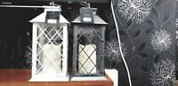 Rustic led lantern battery operated INDOOR flickering candle lantern lamp holder