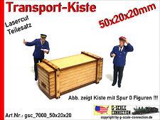 Spur 0 Lasercut 2x Transport Kiste 50x20x20mm aus Holz für z.B. Lenz Brawa MBW