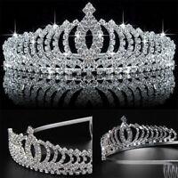 Bridal Wedding Rhinestone Crystal Tiara Hair Band Princess Prom Crown Headbands