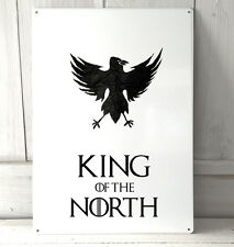 The Knights Watch King of the North Game of Thrones inspired A4 Metal Sign
