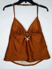 ISAAC MIZRAHI Women's XL Tankini Swimsuit Top Rust NWT