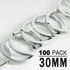 100pcs Silver Keyring Stainless Steel Metal Key Holder Split Rings 30mm