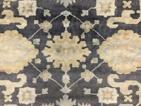 12x15 GRAY WOOL RUG NEW HAND-KNOTTED muted handmade mute oriental handwoven rugs