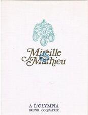 MIREILLE MATHIEU CARTON D'INVITATION A L'OLYMPIA 07 FEVRIER 1973 (vierge)