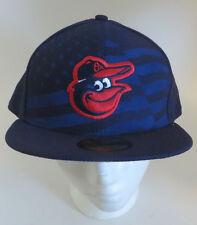 Baltimore Orioles New Era 59Fifty Fitted Cap Hat 7 5/8 American Flag Blue