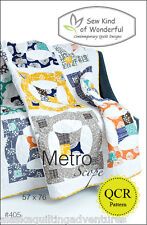 Quilt Pattern ~ METRO SCOPE ~ by Sew Kind of Wonderful