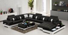 Leder U Form Wohnlandschaft Couch Big XXL Sofa Polster Ecke Garnitur Eck SendenS
