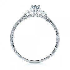 Women Men 925 Silver Ring 1ct Aquamarine Wedding Engagement Ring Size 6-10