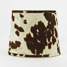 """Faux Cowhide Shade,Hardback, 14"""" Washer Fitter"""