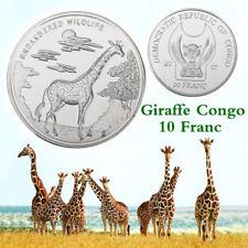 WR Giraffe Congo 10 Franc Silver Coin Token Endangered Wildlife Gifts for Wife