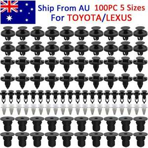 100x For TOYOTA HILUX Trim Body Clips Engine Cover Shroud Cowling Guard Fastener