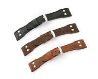 GENUINE LEATHER WATCH STRAP F. BIG PILOT IWC FLIEGERBAND MIT NIETEN de