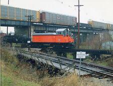 6BB672 RP 1970s? MILWAUKEE RAILROAD LOCO #1649 N&W ROW LEFT N&S LIMIT SIGN