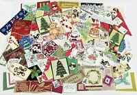 Junk Journal Ephemera Huge Lot Unique/Vintage Christmas Holiday Craft 100 +Pcs