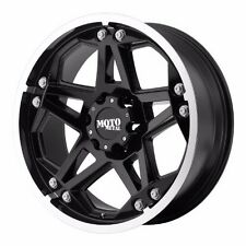 "NEW BLACK MOTO METAL MO960 17X8"" ALLOY WHEELS SILVERADO 2500 3500 07-10 SET 4"
