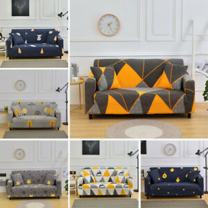1/2/3/4 Seater Elastic Sofa Covers Slipcover Settee Stretch Couch Protector