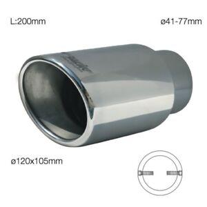 Simoni Racing Muffler Stainless Steel Oval & Slanted TRX /36