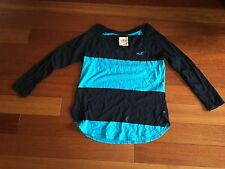 Hollister Blue and Black shirt - size XS