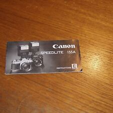 Instructions for CANON SPEEDLITE 155A FLASH UNIT printed in JAPAN 23 pages