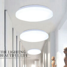 Bright 24W Round LED Ceiling Down Light Panel Wall Kitchen Bathroom Room Lamp UK