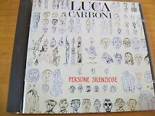LUCA CARBONI PERSONE SILENZIOSE  CD MINT- PD74310