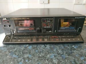 Vintage JVC TD-W33B Stereo Separate Double Twin Cassette Tape Deck Tested