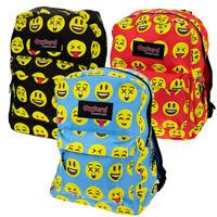 "Kids Oxford Essentials Emoji  15"" Backpack Emoticon Faces Bag For School Camping"