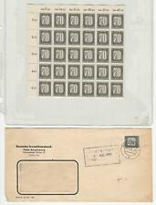 Germany Stamp Collection, DDR O28-O32 Mint NH Blocks of 30 & Cover, DKZ