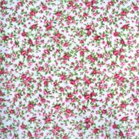 ITSY BITSY TINY FLORAL - WHITE - POLY COTTON FABRIC sold per metre PINK FLOWERS