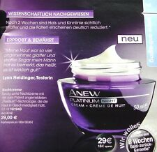 Avon Anew Platinum 60+ Nachtcreme