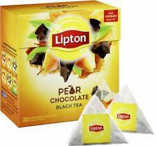Lipton Pear Chocolate Flavor Tea Silk Pyramid 20 Bags