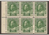 CANADA #104a MINT BOOKLET PANE F/VF NH
