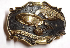 1986 Star Trek Final Frontier 20th Anniversary Metal Belt Buckle- Gold Plated