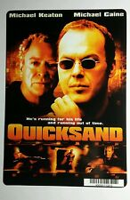 QUICKSAND MICHAEL CAINE KEATON COVER ART MINI POSTER BACKER CARD (NOT a movie )